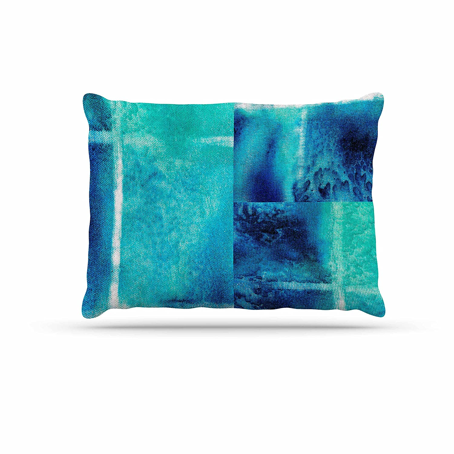 Kess InHouse Nina May Saltwater Study  Teal bluee Fleece Dog Bed, 30 by 40