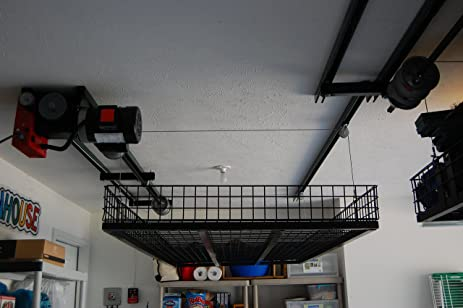 Superior Ceiling Storage Lift Raises 500 Pounds Of Your Items To Ceiling Of Garage,  Huge Space