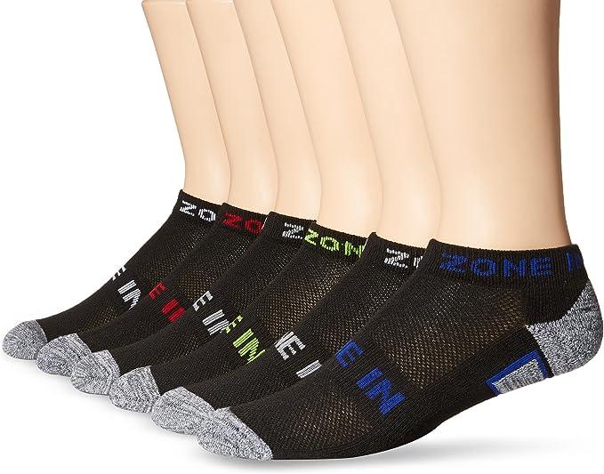 Zone in Mens Low Cut Socks 10 Pairs Sock Size 10-13 Shoe Size 6-12 Black White