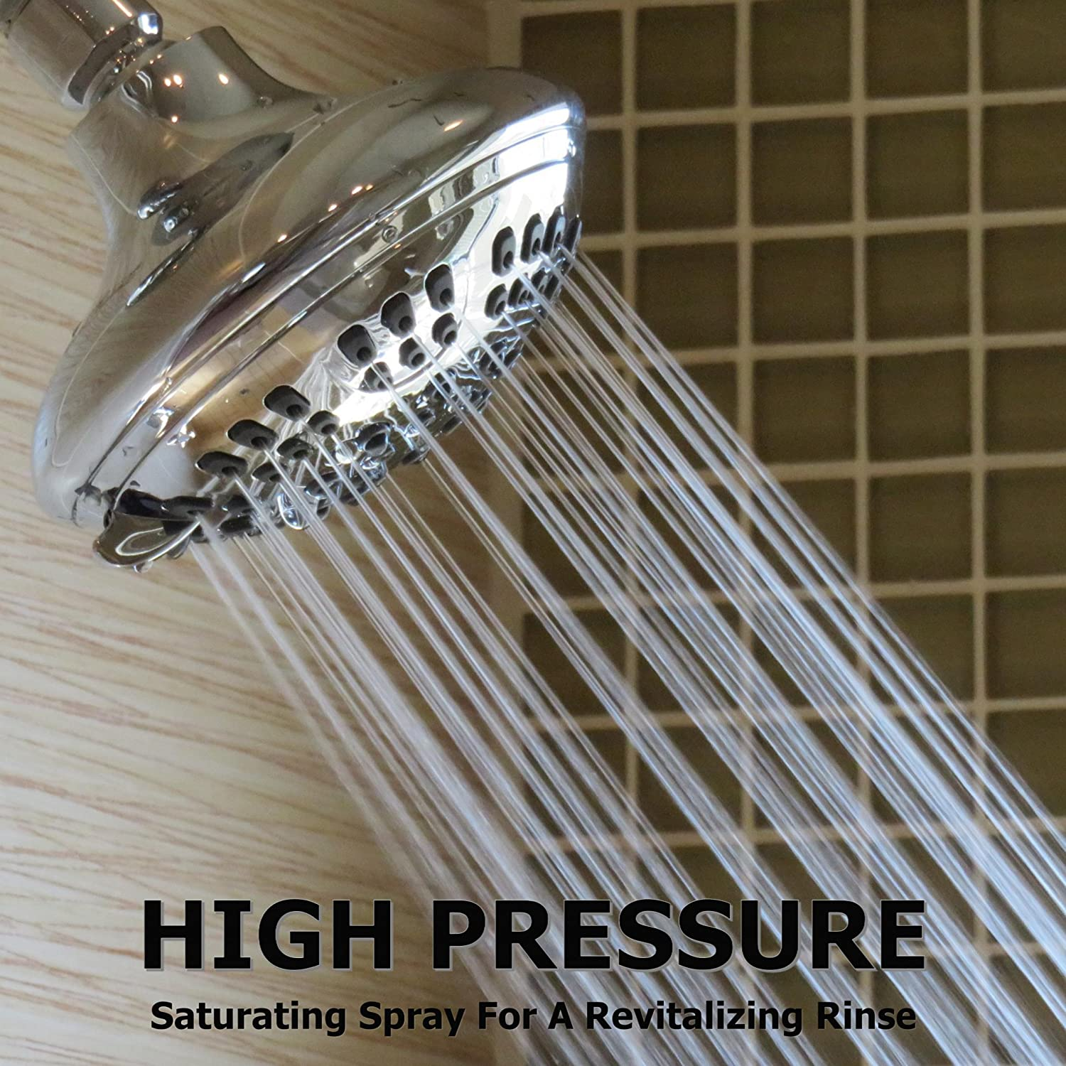 Aqua Elegante Adjustable High Pressure ShowerHead