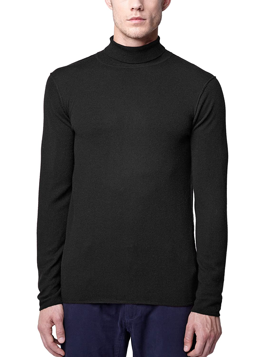 NOWADAYS - Rollneck Sweaters - Men - Black Polo-Neck Sweater for men