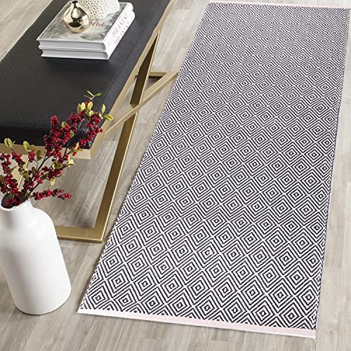 HEBE Extra Long Cotton Area Rug Runner 2 x6 Reversible Hand Woven Cotton Throw Rug Floor Mat Carpet Runner for Kitchen Bedroom Entryway Laundry Room