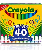 Crayola 587861A000 Ultra-Clean Washable Broad Line Markers, 40 Classic Colors Non-Toxic Art Tools for Kids & Toddlers Multicolor