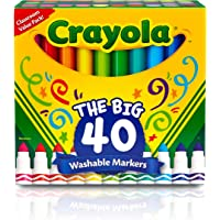 Crayola Ultra Clean Washable Broad Line 40 Classic Color Markers
