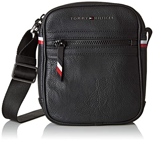 c2465f38784 Tommy Hilfiger Essential Mini Reporter, Men's Shoulder Bag, Black, 5x20x16  cm (B