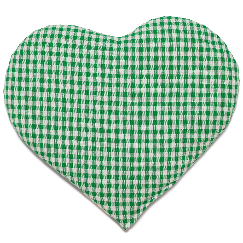 Almohadilla térmica en corazón 30x25 verde y blanco ...