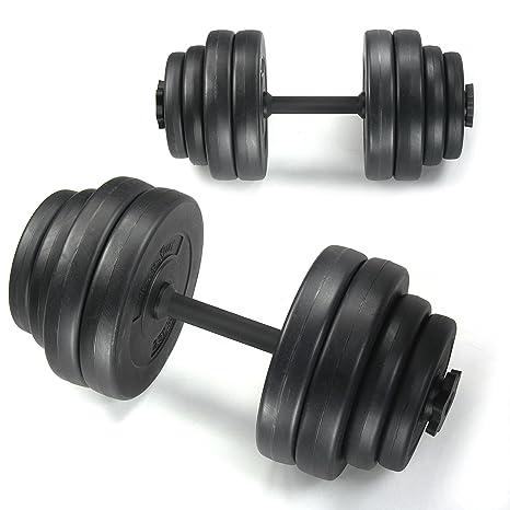 Conjunto con mancuernas, fitness-sport, 30 kg, color: negro