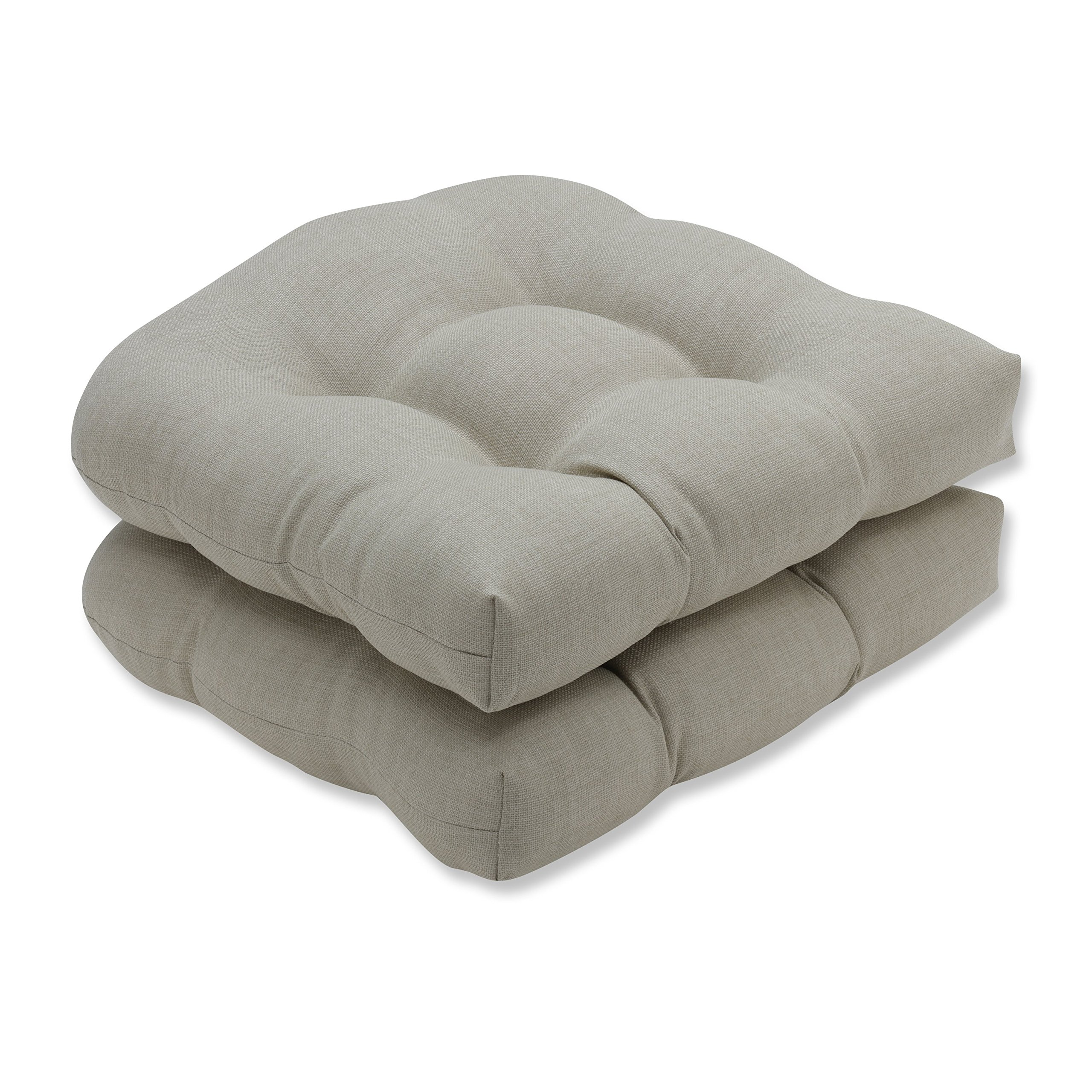 Pillow Perfect Outdoor/Indoor Rave Driftwood Wicker Seat Cushion (Set of 2)