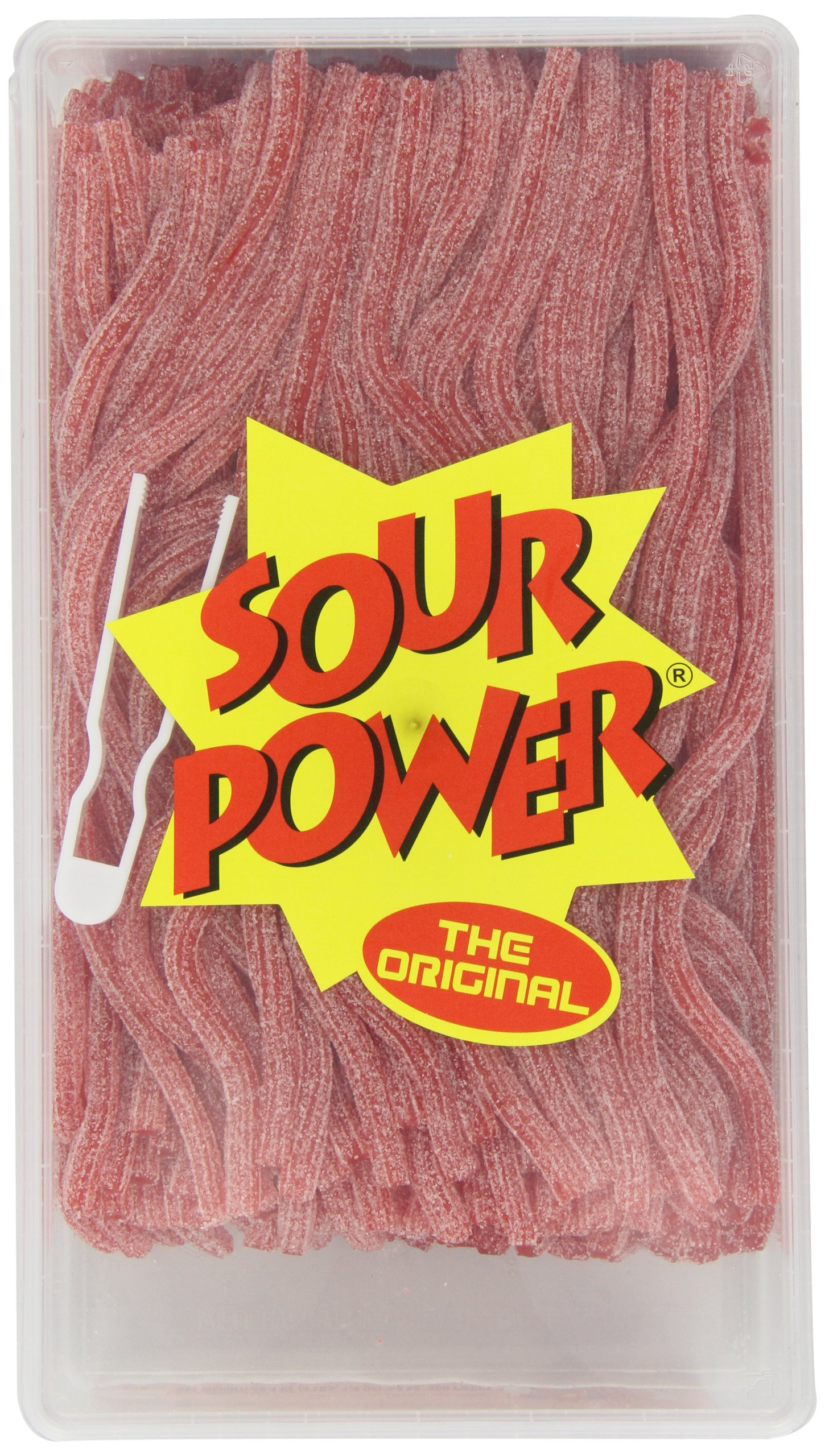 Sour Power Straws, Strawberry (200-Count Straws), 49.4-Ounce Tub by Sour Power