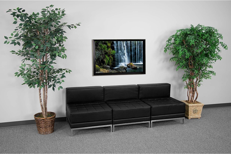 Flash Furniture Black Leather Lounge Set, 3 PC, 84