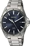 Seiko Men's Sport Watches Japanese-Quartz Stainless-Steel Strap, Silver, 20 (Model: SNE483)