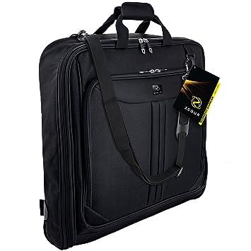 22bbe2db4934 ZEGUR Kleidersack Anzughülle für bis zu 3 Anzüge, Kleiderhülle  Handgepäckstück für jede Reise Geschäftsreise - mit verstellbarem  Schultergurt ...