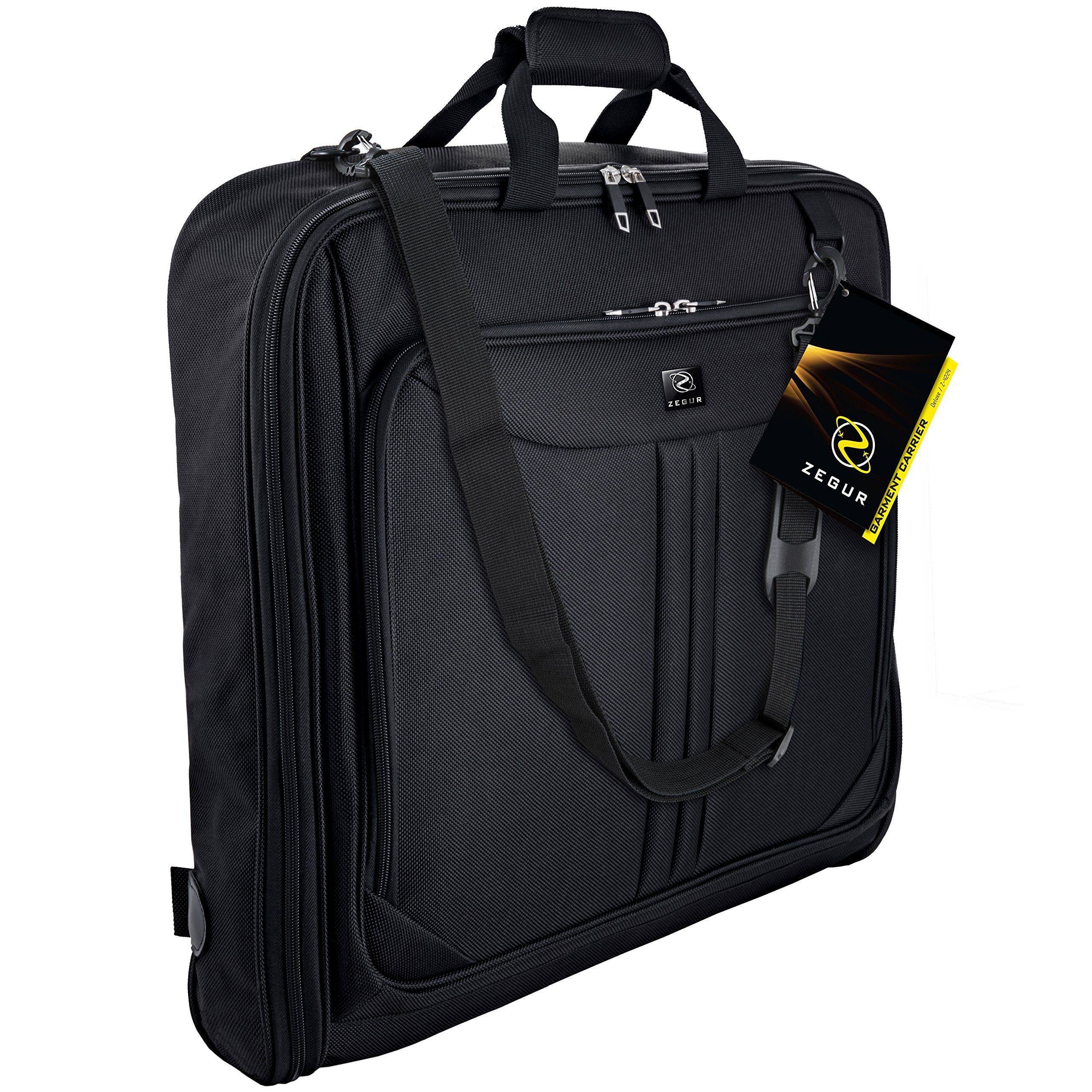 ec9a94d454 ZEGUR Suit Carry On Garment Bag for Travel & Business Trips With Shoulder  Strap