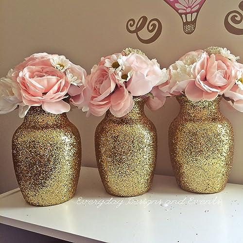Amazon 3 Gold Vases Wedding Centerpieces Wedding Decorations