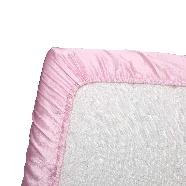 Pro Goleem Satin Pack n Play Playard Sheet Great for Baby Hair Soft Silk Feeling 27x39 Inch Fitted Portable Mini Crib Sheet Playpen Sheet Playard Mattress Cover Unisex Black Best for Summer
