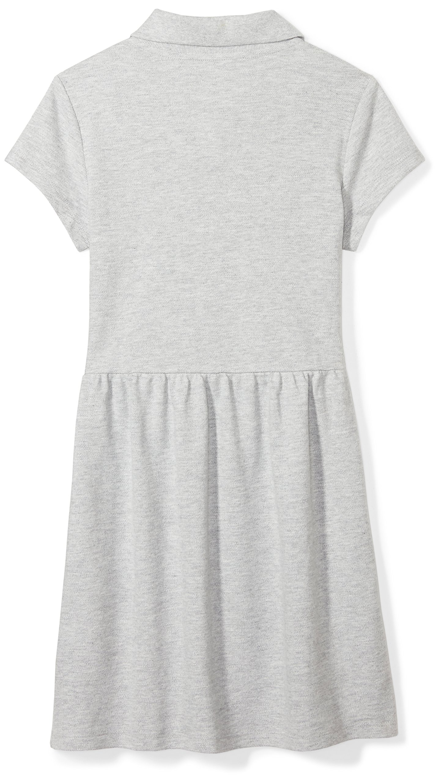 Amazon Essentials Girls' Short-Sleeve Polo Dress, Gray, M (8) by Amazon Essentials (Image #2)