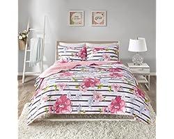 Comfort Spaces Quilt Set Novelty Design All Season Lightweight Coverlet Bedding Bedspread Kids, Teens Girls Bedroom Decor, Zo