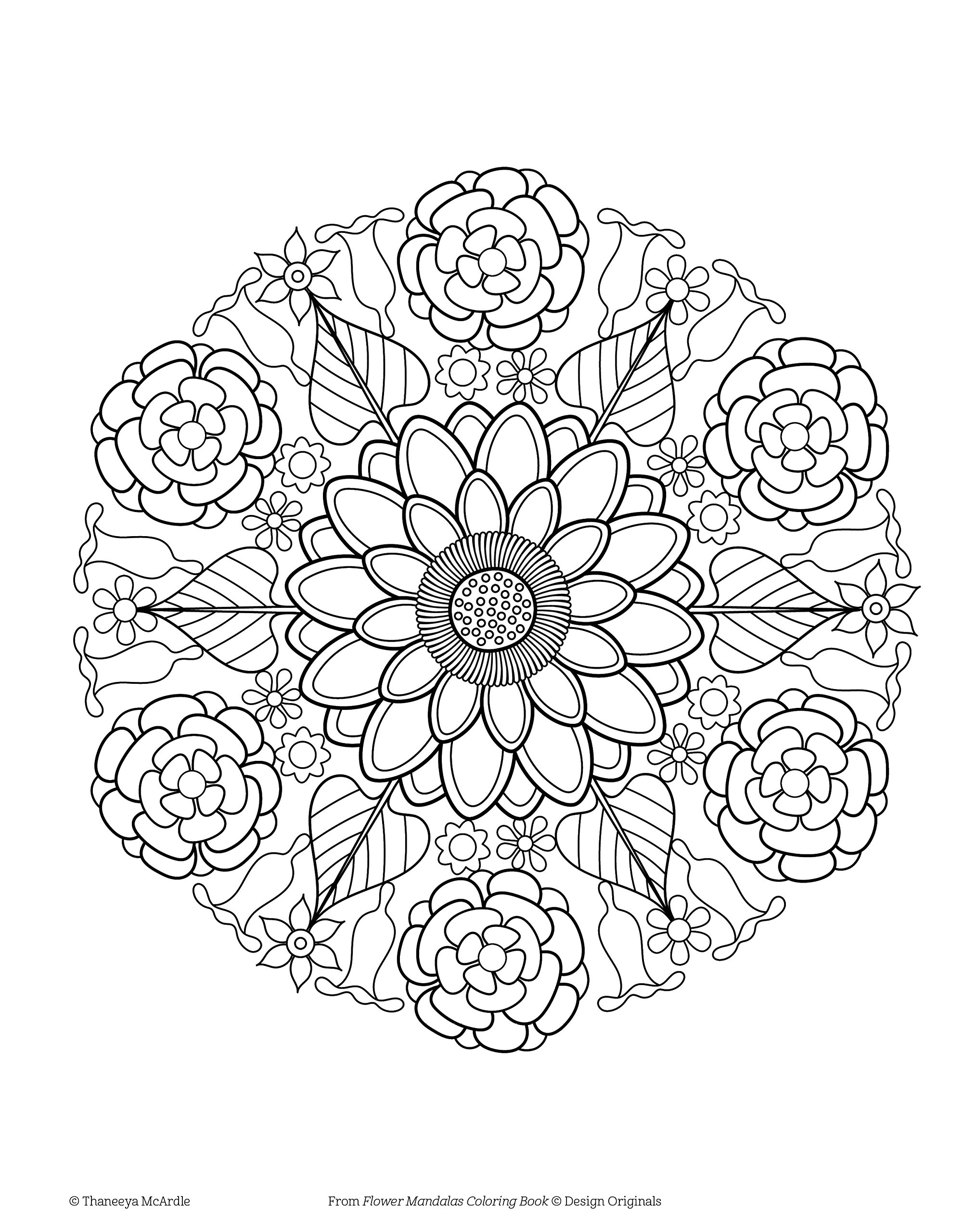 Amazon Flower Mandalas Coloring Book Is Fun Design Originals 0499995279735 Thaneeya McArdle Books