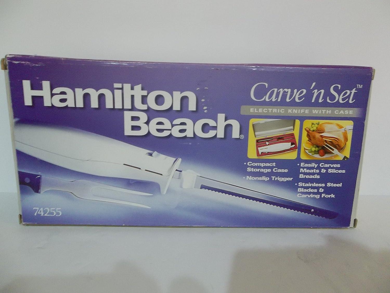 Hamilton Beach Carve 'n Set Electric Knife with case 74255