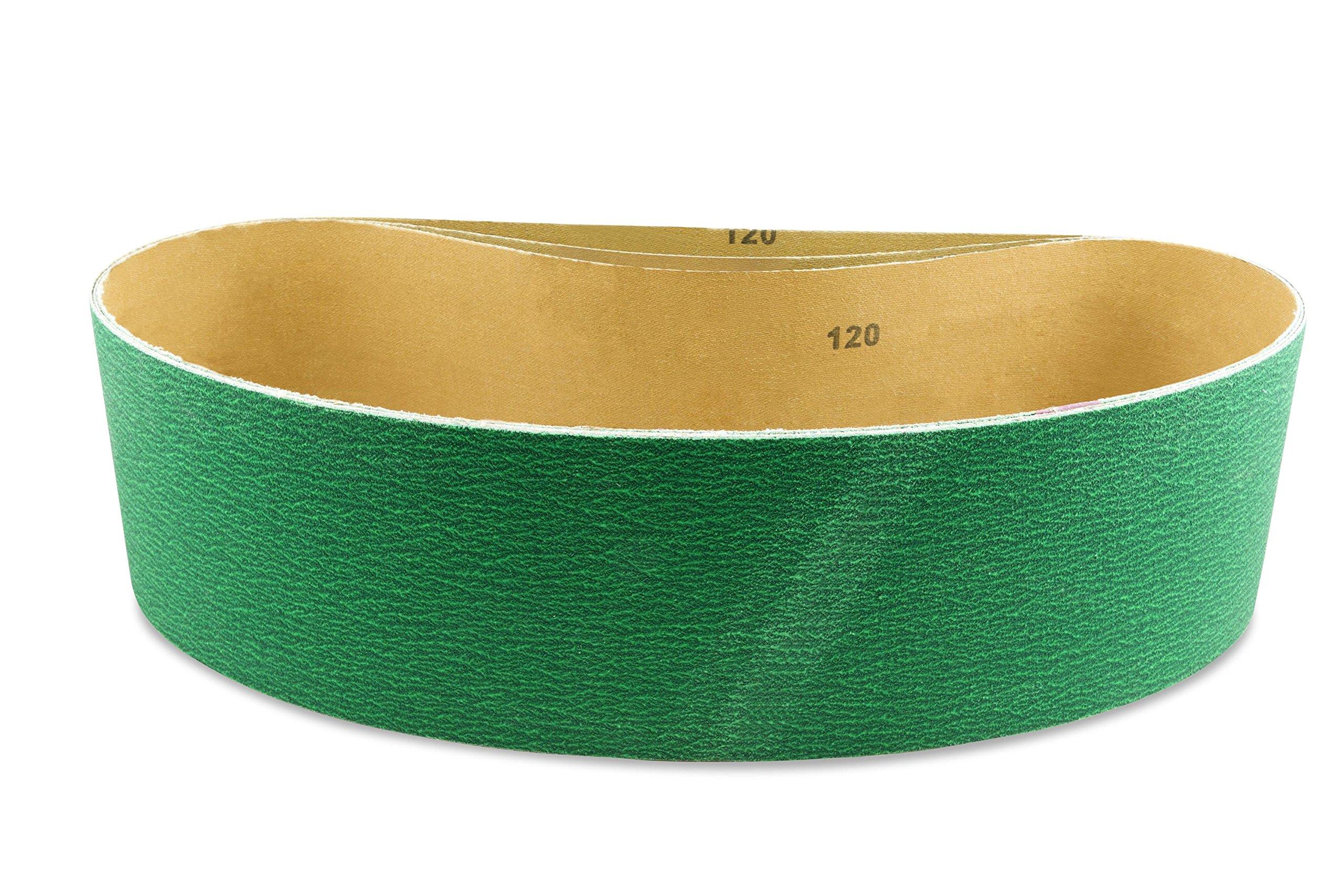 4 X 21 Inch 120 Grit Metal Grinding Zirconia Sanding Belts, 3 Pack