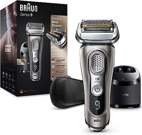 Rasoio elettrico barba braun series 9 9385cc ricaricabile e senza fili con custodia in pelle 4210201200253
