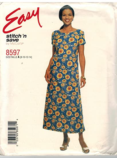Amazon.com: 8597 McCalls Sewing Pattern UNCUT Misses Pullover A Line ...