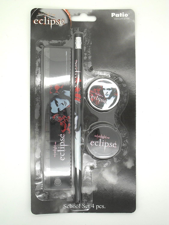 Twilight Eclipse Saga School Set Pencil 15cm Ruler Eraser Sharpener - Edward Patio 04510Edward