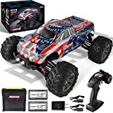 BEZGAR 6 Hobby Grade 1:16 Scale Remote Control Truck, 4WD High Speed 40+ Kmh All Terrains Electric Toy Off Road RC Monster Ve