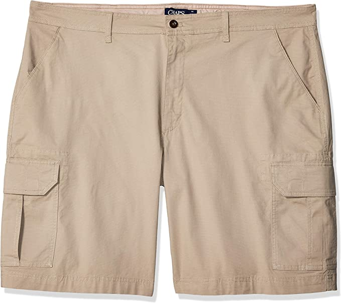 """NEW CHAPS Men/'s Flat Front 9/"""" Inseam Stretch Extra-Soft Cotton Striped Shorts"""
