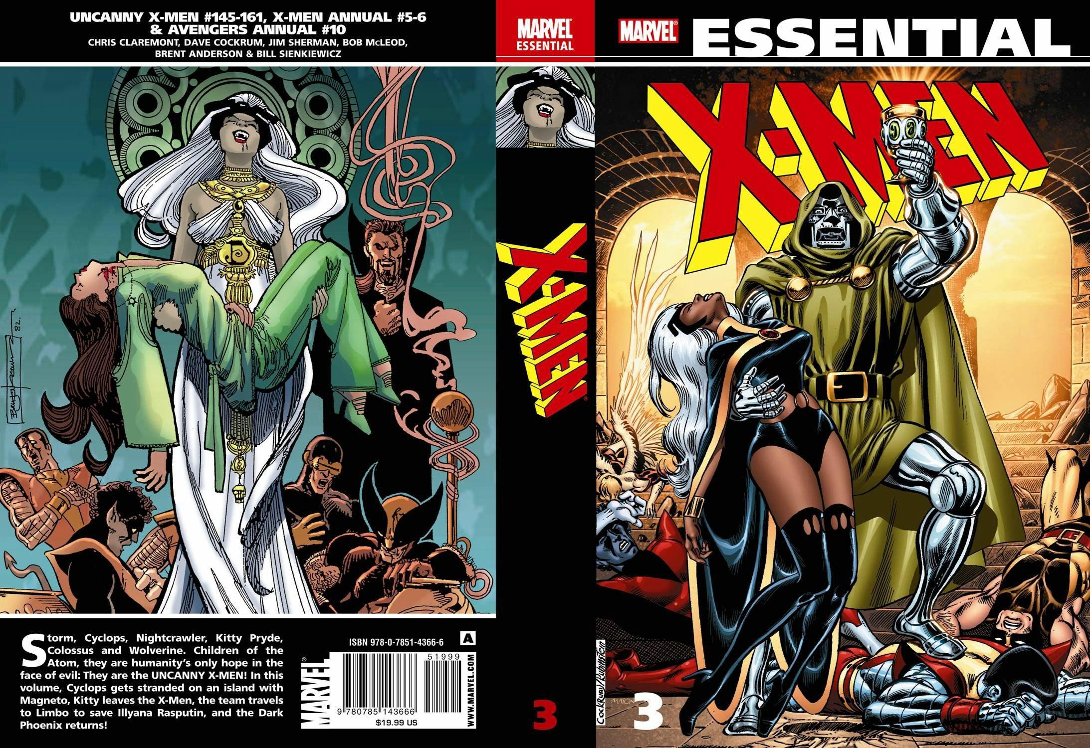 Essential X Men 3 All New Edition 9780785143666 Chris Claremont Dave Cockrum Jim Sherman Bob Mcleod Bill Sienkiewicz Brent Anderson Books