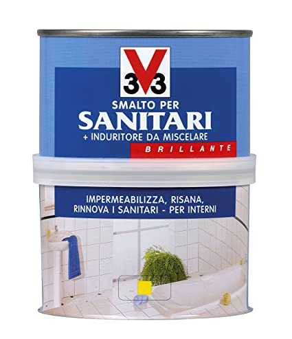 SMALTO PER SANITARI 2 COMPONENTI LT.0,5