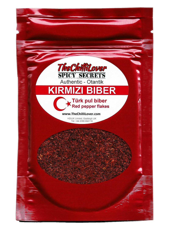 TheChilliLover 50g Fresh Pouch High Quality Turk Kirmizi biber - Pul Biber  (Turkish Crushed Hot Red Chili Pepper Flakes)  Amazon.co.uk  Grocery 6dba9553f5