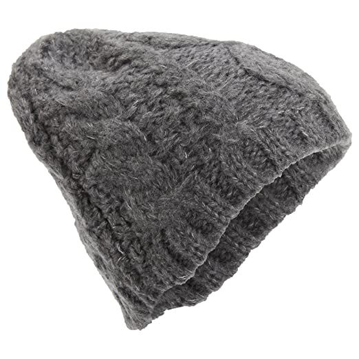 2842cda5209 Universal Textiles Womens Ladies Winter Cable Knit Beanie Hat (One Size)  (Gray