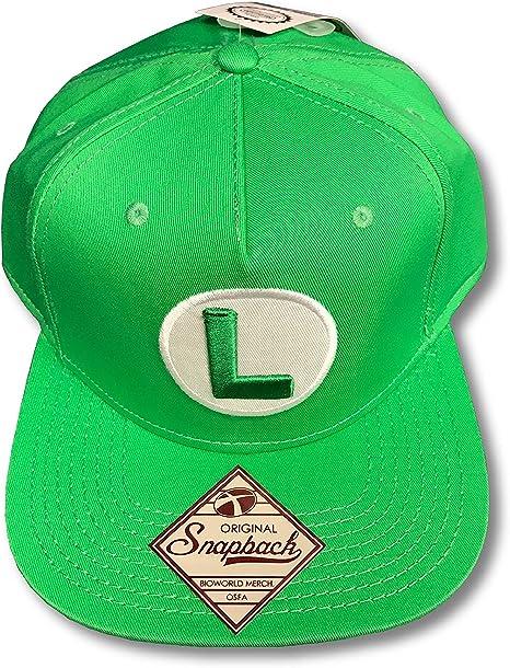 Metro Kulture Luigi Super Mario verde snapback Gorra de béisbol ...