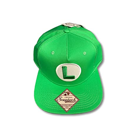 d9594f8a350 Image Unavailable. Image not available for. Color  Luigi Super Mario Green  Snapback Baseball Cap