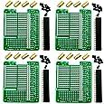 CZH-LABS Electronics-Salon 4X Prototype Breakout PCB Shield Board Kit for Raspberry Pi 3 2 B+ A+, Breadboard DIY.