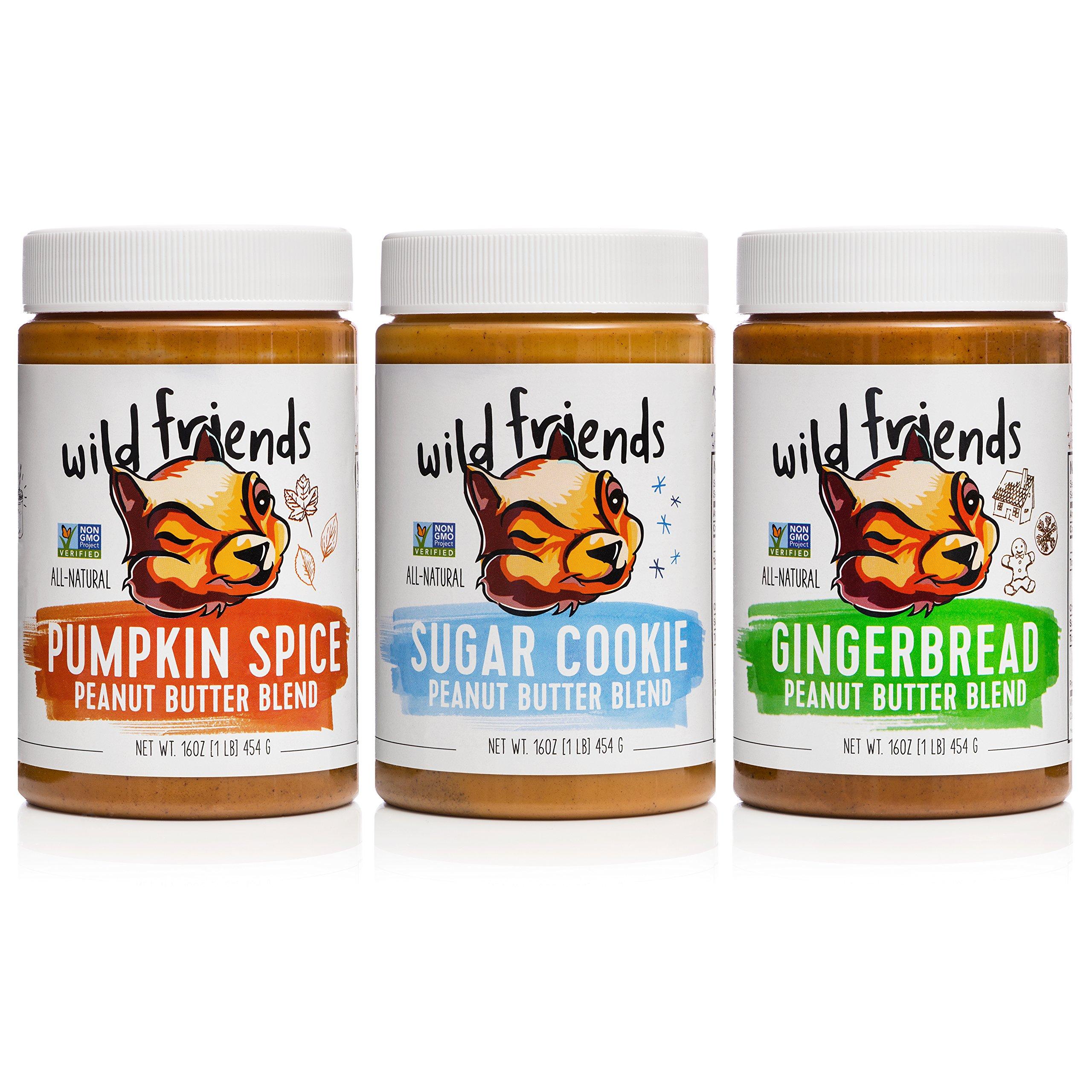 All-Natural Peanut Butter Variety Pack, Seasonal, Pumpkin Spice, Sugar Cookie & Gingerbread