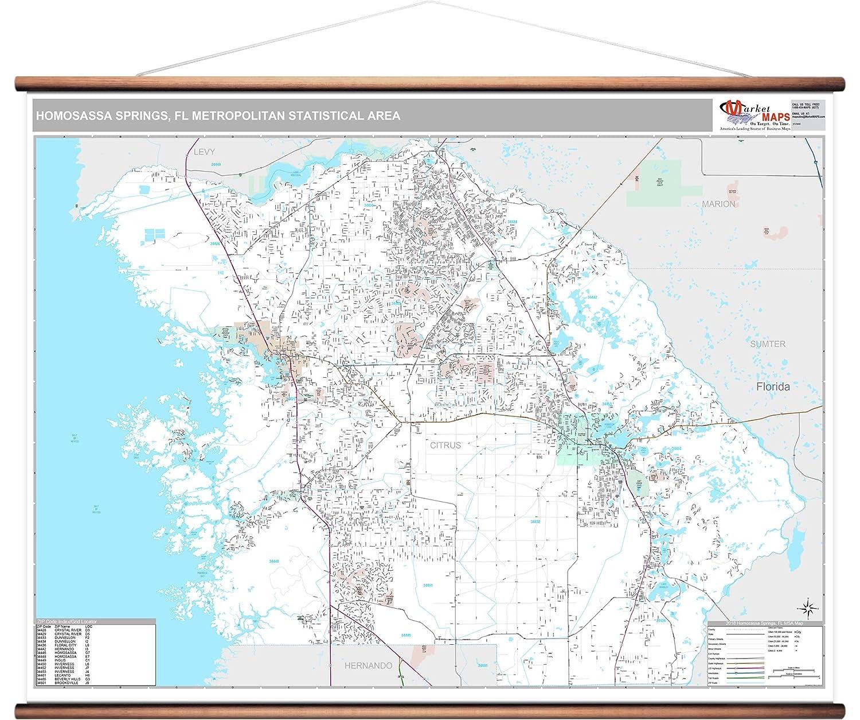 Map Of Springs In Florida.Amazon Com Marketmaps Homosassa Springs Fl Metro Area Wall Map