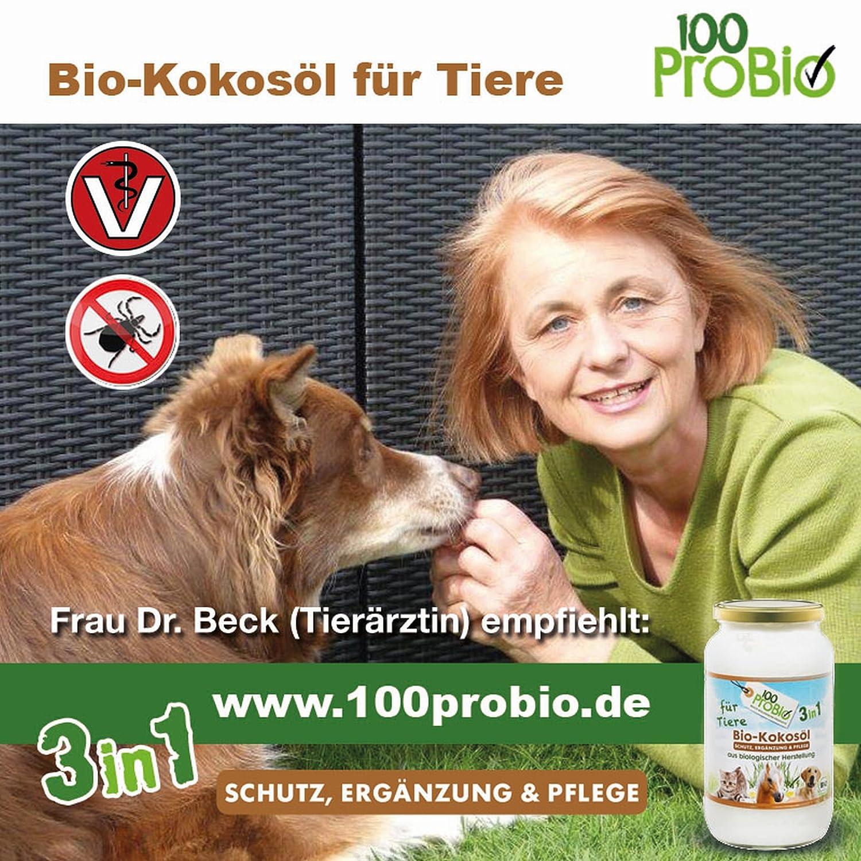 Kokosöl für Tiere 1000ml ein natürlich wirksamer Schutz gegen Zecken Milben Parasiten & Fellpflege ohne Chemie Hund Katze od