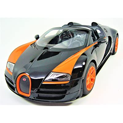 Radio Remote Control 1/14 Bugatti Veyron 16.4 Grand Sport Vitesse Licensed RC Model Car (Black): Toys & Games