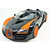 Radio Remote Control 1/14 Bugatti Veyron 16.4 Grand Sport Vitesse Licensed RC Model Car (Black)