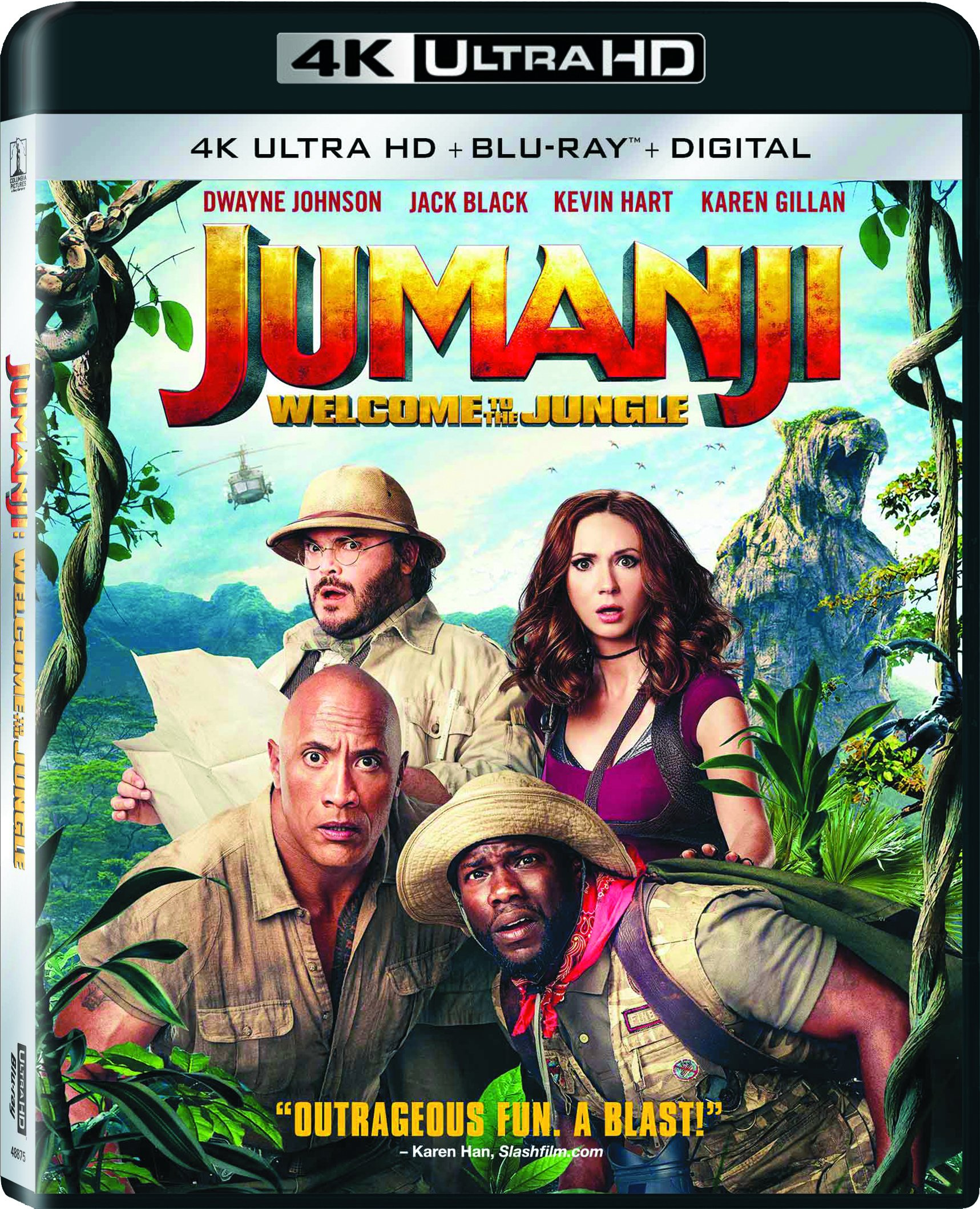 4K Blu-ray : Jumanji: Welcome To The Jungle (With Blu-Ray, 4K Mastering, Widescreen, Dubbed, Subtitled)