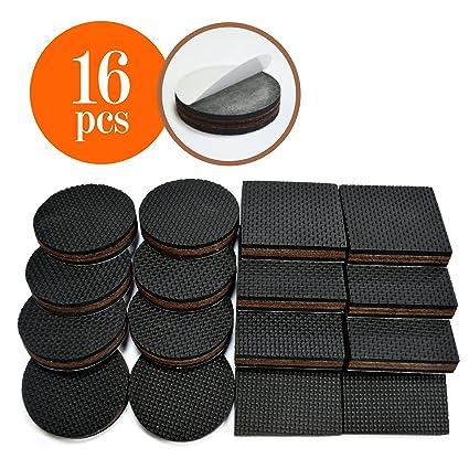 Amazon NON SLIP PADS Non Slip Rubber Furniture Feet 2 Inch 16