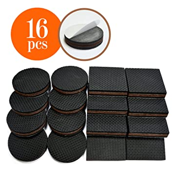 Exceptional NON SLIP PADS Non Slip Rubber Furniture Feet 2 Inch, 16 Piece