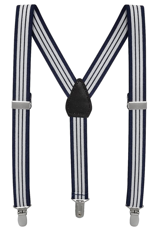 Buyless Fashion Bretelles Enfants & Bébé Ajustables Élastiques 2.5cm Pinces très Solides