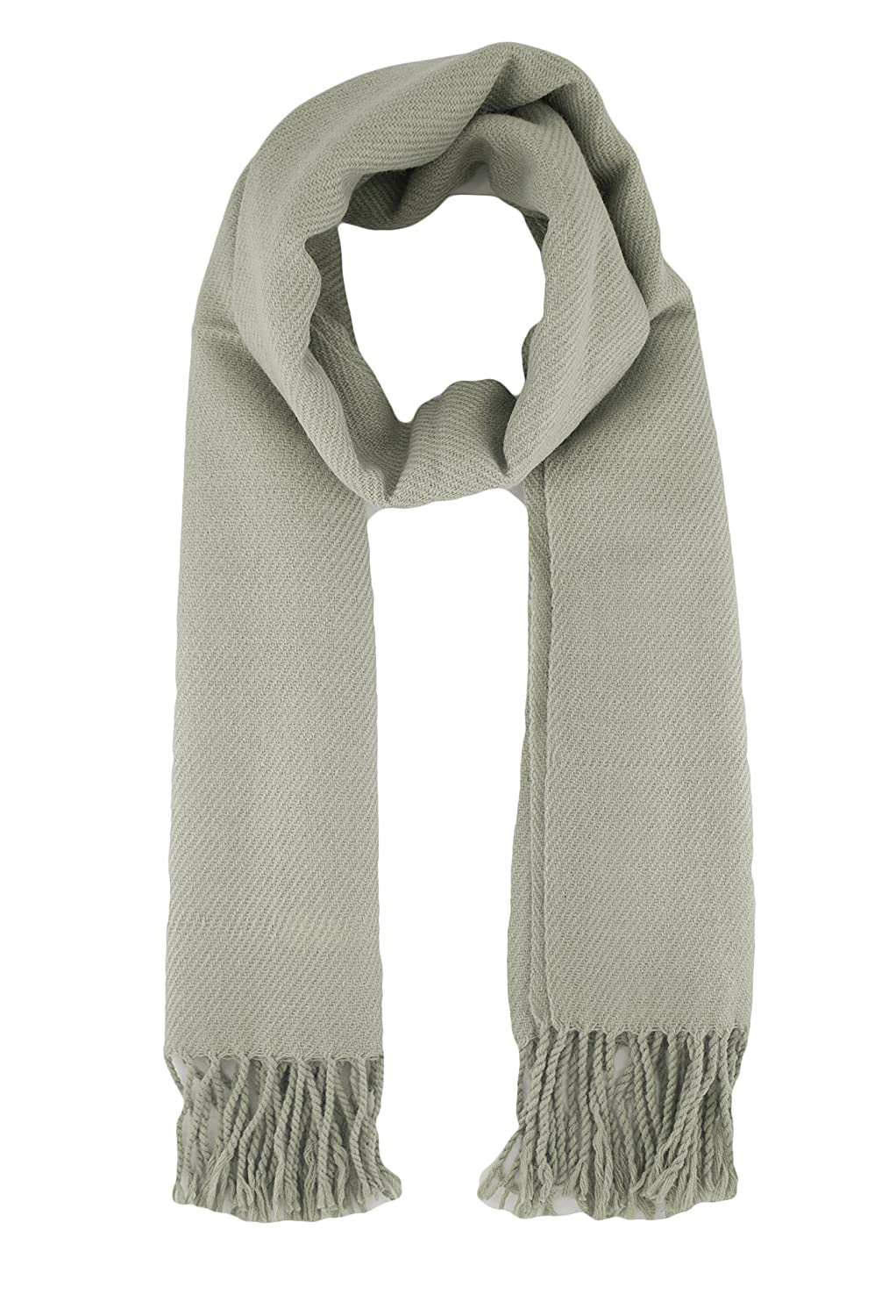 TooPhoto Unisex Solid Color Soft Warm Cashmere Feel Tassels Long Shawl Scarf AL1tpBMA00016FSHA