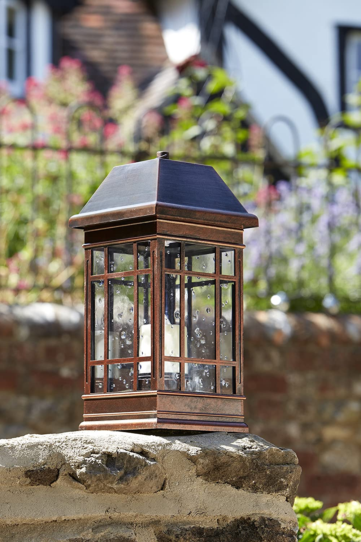 55x12x12 cm Verde Agua Smart Solar 1080300RD Linterna Decorativa Sevilla