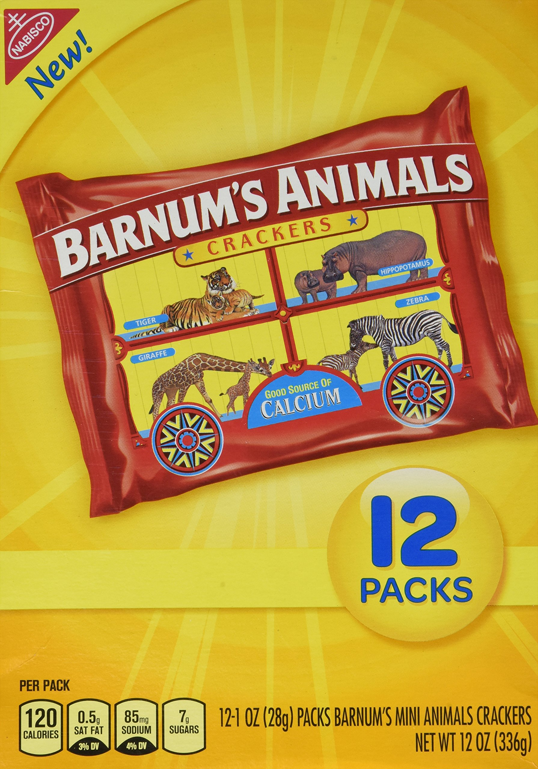 Barnum's Mini Animals Crackers 12 Pack Box (2- 12 Pack Boxes) by Nabisco
