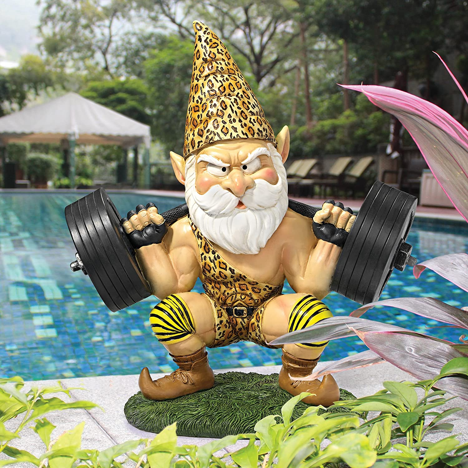 Amazon.com : Garden Gnome Statue   Atlas The Athletic Weightlifting Gnome   Outdoor  Garden Gnomes   Funny Lawn Gnome Statues : Patio, Lawn U0026 Garden