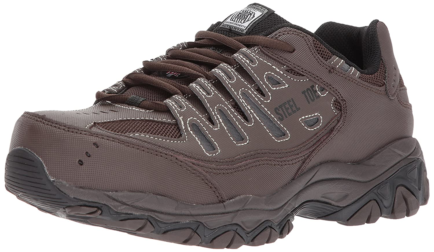9134e1af6994 Amazon.com  Skechers for Work 77055 Cankton Athletic Steel Toe work  sneaker  Shoes